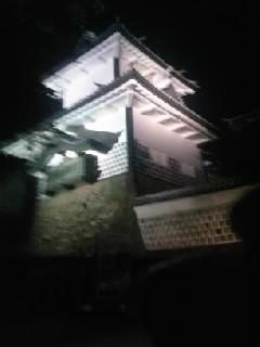 夜の兼六園石川門